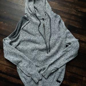 *Like NEW* Mens Buckle Half Zip Hooded Sweater